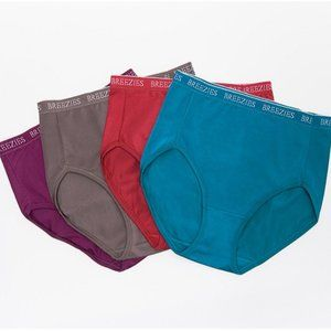 Breezies Nylon Microfiber Hi-Cut Panties P1909
